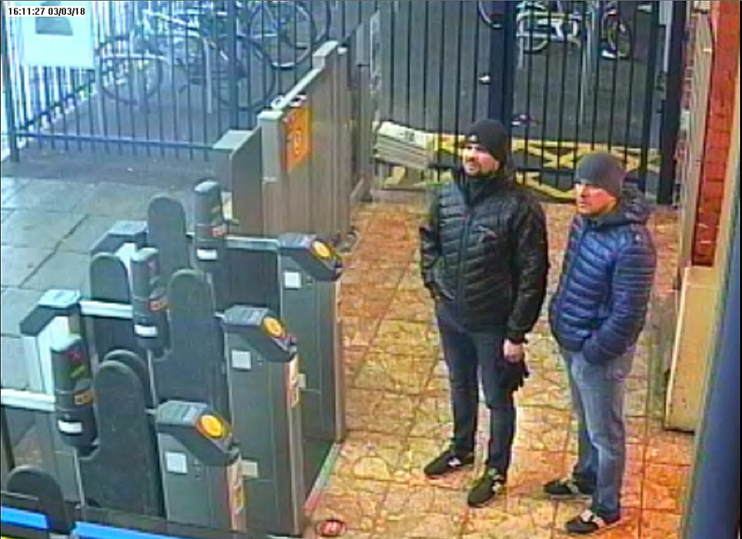 "(FILES) In this file photo taken on September 05, 2018 A handout picture taken at Salisbury train station in Salisbury, west of London on March 3, 2018, and released by the British Metropolitan Police Service in London on September 5, 2018, shows Alexander Petrov (R) and Ruslan Boshirov, who are wanted by British police in connection with the nerve agent attack on former Russian spy Sergei Skripal and his daughter Yulia. - Investigative group Bellingcat on October 9, 2018 identified the second suspect in the poisoning of former Russian spy Sergei Skripal as a doctor employed by Moscow's GRU military intelligence service. ""We have now identified 'Alexander Petrov' to be in fact Dr. Alexander Yevgenyevich Mishkin, a trained military doctor in the employ of the GRU,"" the British-based group said in a report published on its website. Bellingcat worked with the Russian investigative team at The Insider to name the first of the two Skripal suspects 'Ruslan Boshirov' as GRU agent Anatoly Chepiga last month. The Kremlin has rejected past charges about its involvement in the case as fabrications aimed at discrediting Russia. (Photo by HO / METROPOLITAN POLICE / AFP) / RESTRICTED TO EDITORIAL USE - MANDATORY CREDIT  "" AFP PHOTO / Metropolitan Police Service""  -  NO MARKETING NO ADVERTISING CAMPAIGNS   -   DISTRIBUTED AS A SERVICE TO CLIENTS"