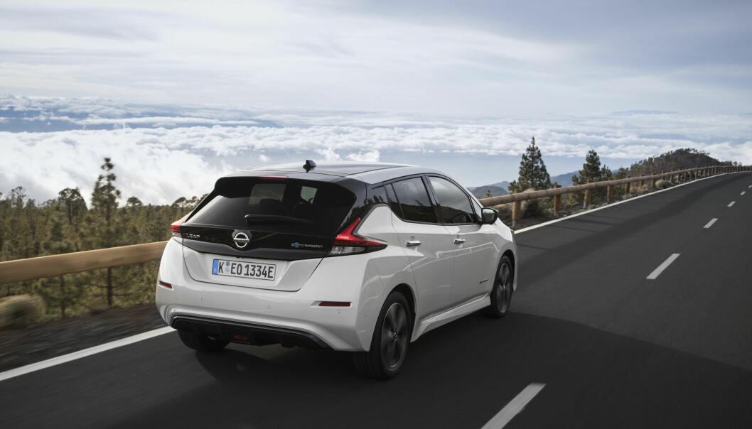 <strong>Nissan:</strong> Leaf ble Norges mest solgte bil i 2018. Foto: Nissan