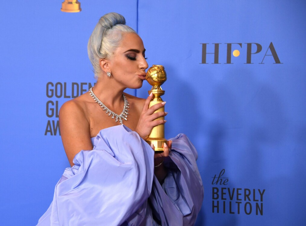 <strong>GOLDEN GLOBES:</strong> Lady Gaga vant ikke pris for sine skuespillerprestasjoner, men sangen «Shallow» fra «A Star Is Born» fikk en Golden Globe i natt. Foto: Scanpix