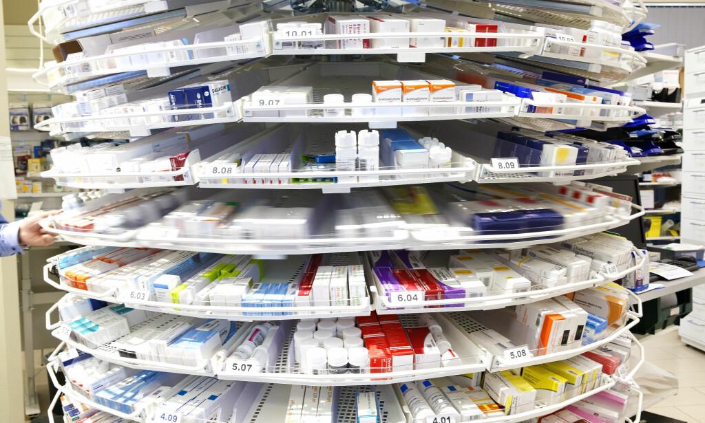 MANGEL: Norske apoteker er tomme for medisiner som brukes av store pasientgrupper. Det kan føre til at pasienter ikke får den behandlingen de trenger. Foto: NTB Scanpix