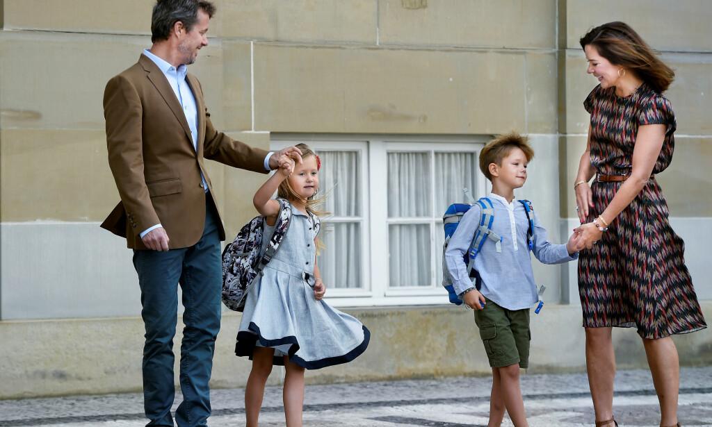 FYLLER ÅR: Prinsesse Josephine og prins Vincent av Danmark fyller hele åtte år i dag, noe kongehuset har valgt å feire med nye bilder. De kan du se lenger nede i saken. Foto: NTB scanpix