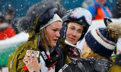 OPPLØST I TÅRER: Anna Swenn-Larsson. Foto: REUTERS/Leonhard Foeger/NTB Scanpix