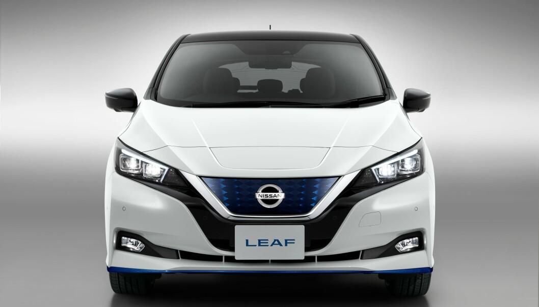 NYE LEAF: Endelig er nye Nissan LEAF med større batteripakke klar. Foto: Nissan