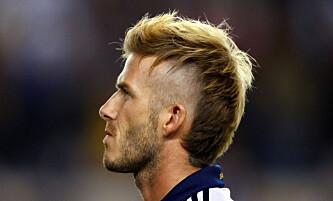 HÅRFIN: En av Beckhams mange hårfrisyrer gjennom årene. Foto: NTB Scanpix