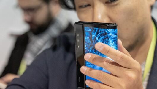 Her er verdens første brettbare smarttelefon!