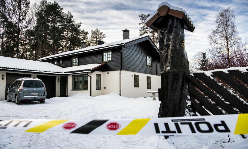 ÅSTED: Anne-Elisabeth Hagen skal ha blitt bortført fra sitt eget hjem i Sloraveien i Lørenskog 31. oktober i fjor. Foto: Lars Eivind Bones / Dagbladet