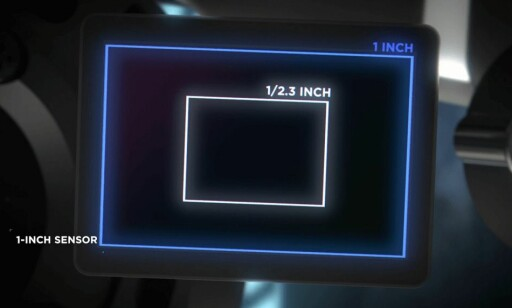 Mavic 2 Pro har en sensor som er omtrent fire ganger så stor som Mavic 2 Zoom. Foto: DJI