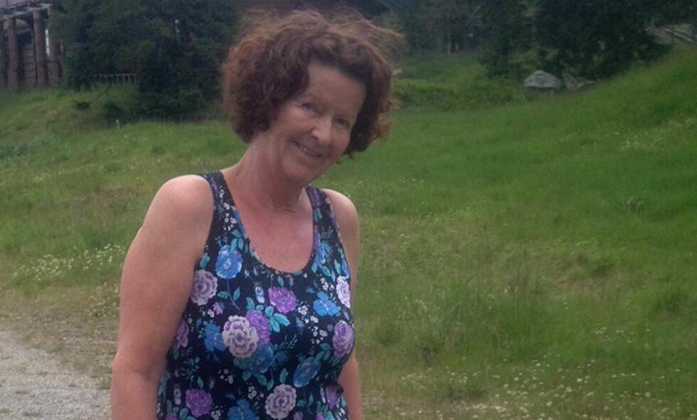 ANTAS BORTFØRT: Anne-Elisabeth Hagen (68) har vært savnet siden 31. oktober i fjor, halloween. Foto: Privat / NTB Scanpix