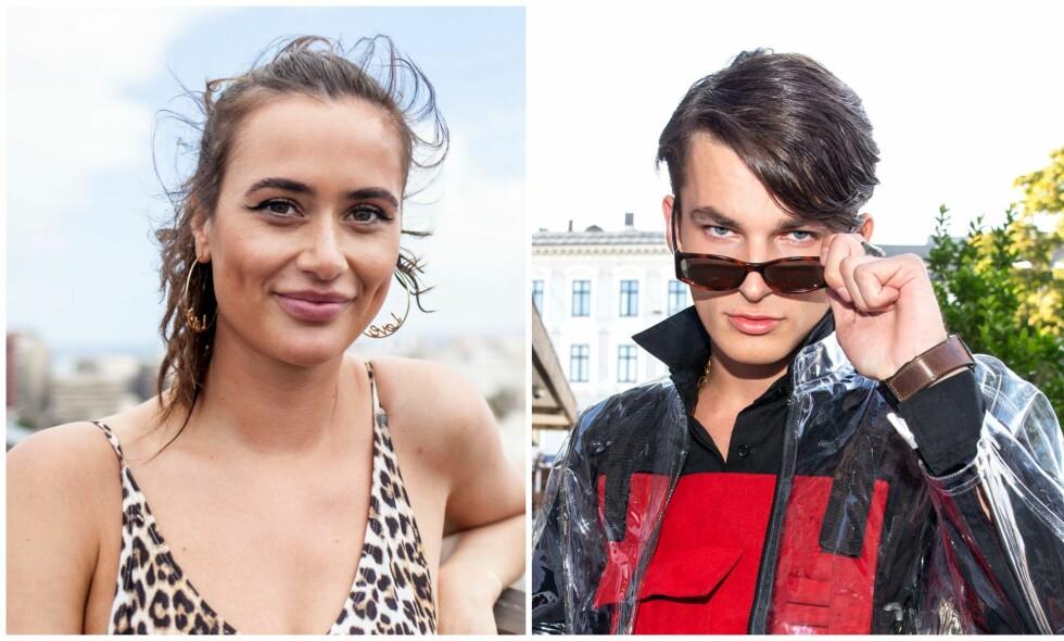 ROMANSERYKTER: De siste ukene har det blitt spekulert på om Adrian Sellevoll og Viktoria Brakstad har funnet tonen. Nå svarer de på romanseryktene. Foto: Marie Røssland, Andreas Fadum