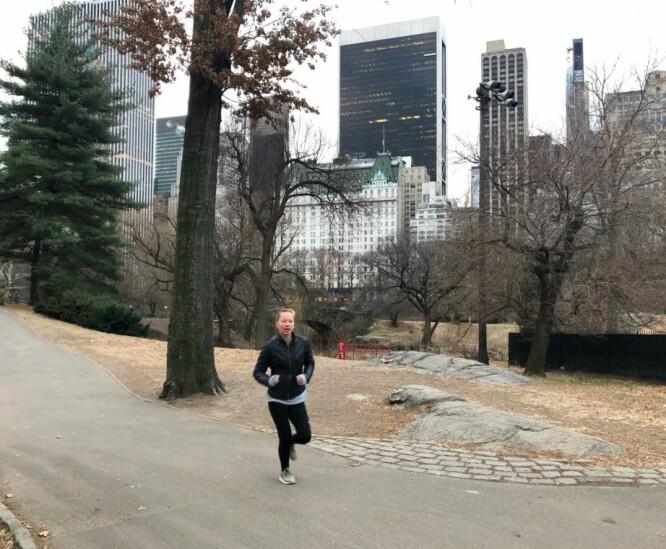 YOKO RUNDT SVINGEN: Journalisten på sprang en tidlig morgen i Central Park. FOTO: Hege Løvstad Toverud