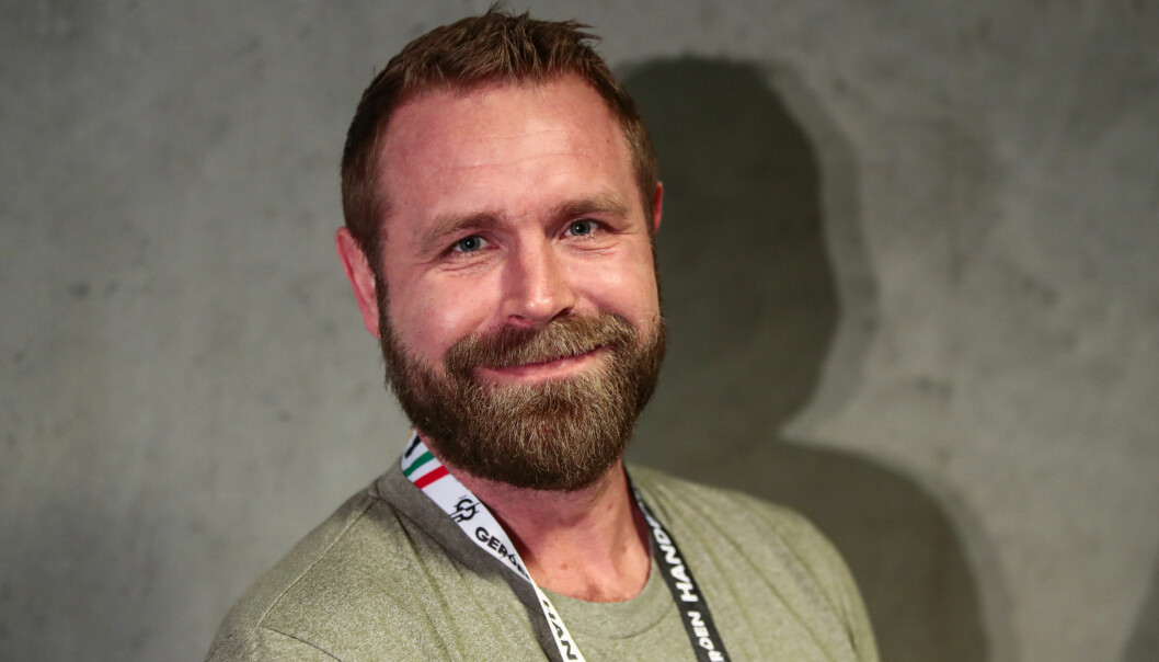 <strong>TV3:</strong> Ekspertkommentator Joachim Rietveld Boldsen fra Danmark. Foto: Lise Åserud / NTB scanpix