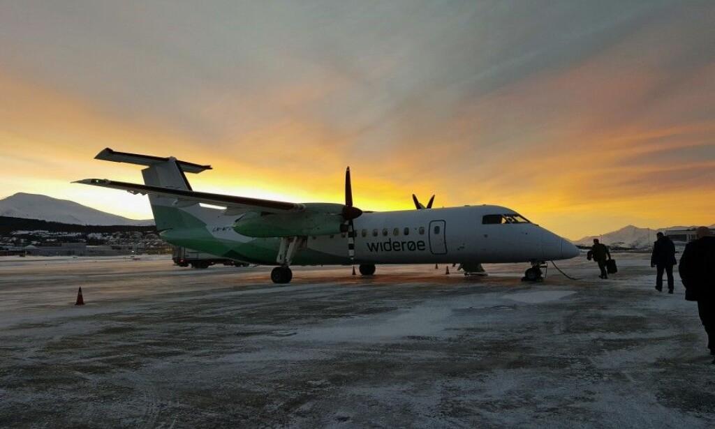 Widerøes Dash 8-fly opererer fra flyplasser langs hele kysten av Nord-Norge. Foto: Thomas Nilsen