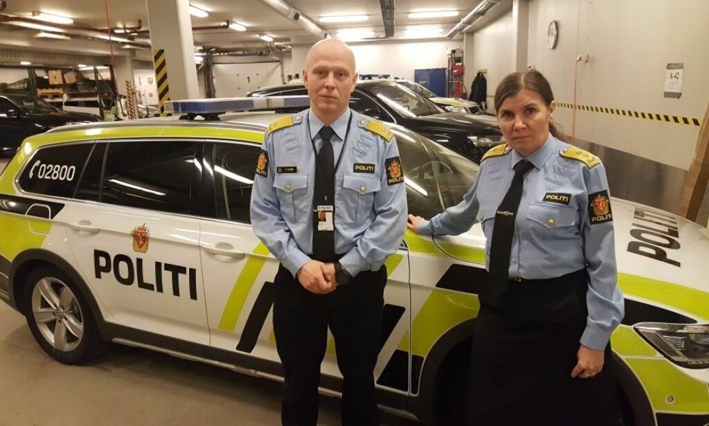 Politimeste Ellen Katrine Hætta og visepolitimester Trond Eirik Nilsen. Photo: Thomas Nilsen