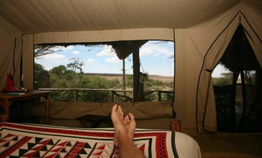 Ny dag: Slik er utsikten når du våkner i Basecamp Masai Mara. Foto: Odd Roar Lanhe/The Travel Inspector