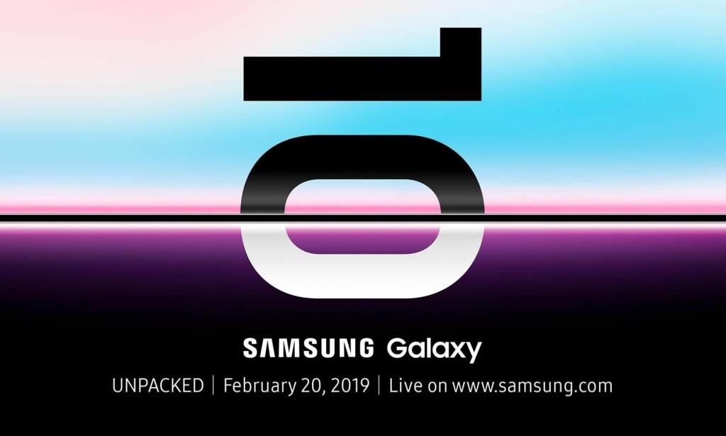 DATOEN ER KLAR: Samsung inviterer til lansering den 20. februar. Foto: Samsung