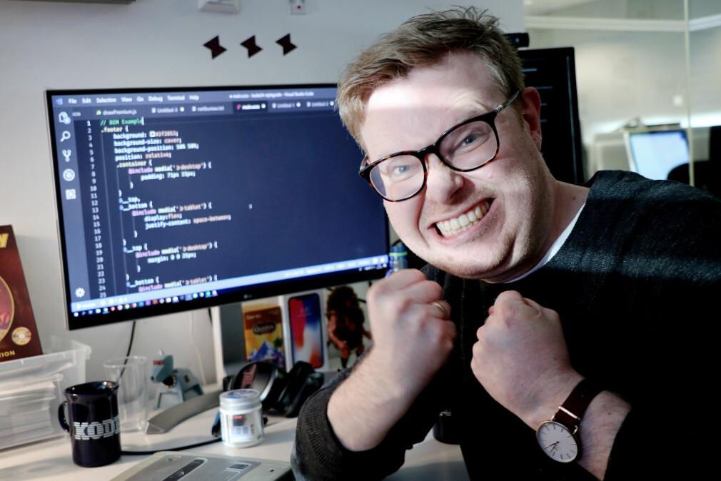 Jørgen har mange ting han vil starte med i 2019, men minst like mange ting han vil unngå. BEM-CSS, for eksempel. 📸: Ole Petter Baugerød Stokke