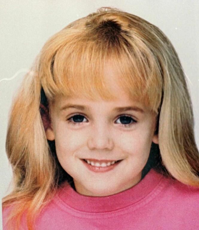 BLE BARE SEKS ÅR: Lille JonBenét Ramsey ble drept 26. desember 1996. Hun ble funnet i sitt eget hjem i Colorado i USA. FOTO: NTB Scanpix