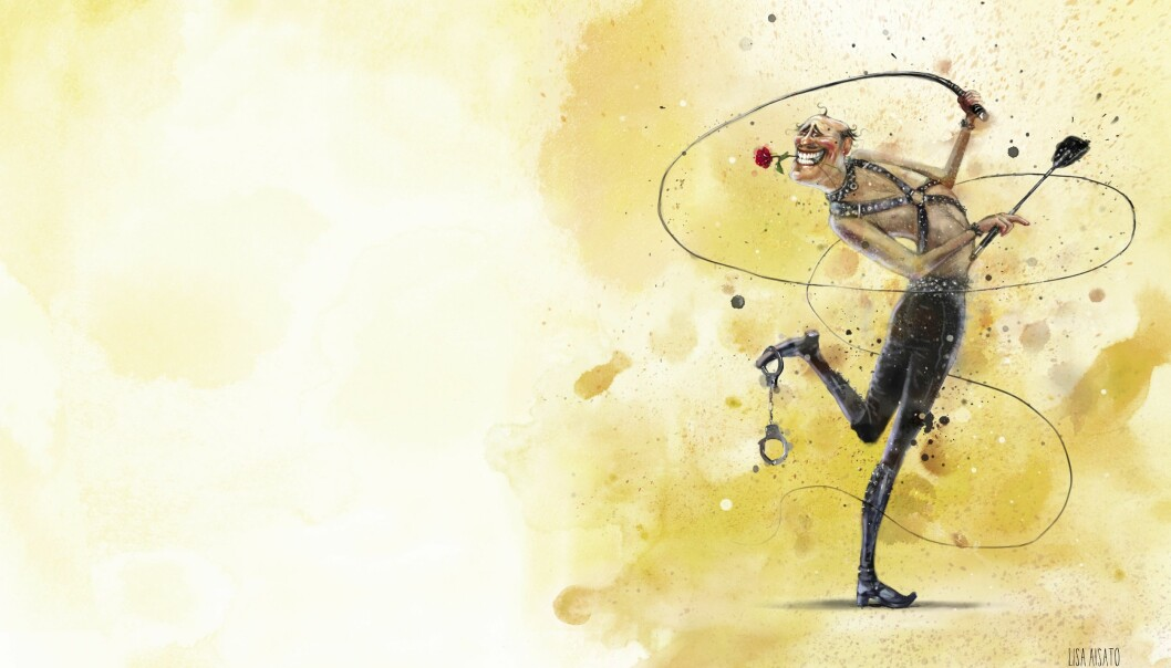 FORLYSTELSE OG STRAFF: Smerte kan også gi glede. Illustrasjon: Lisa Aisato