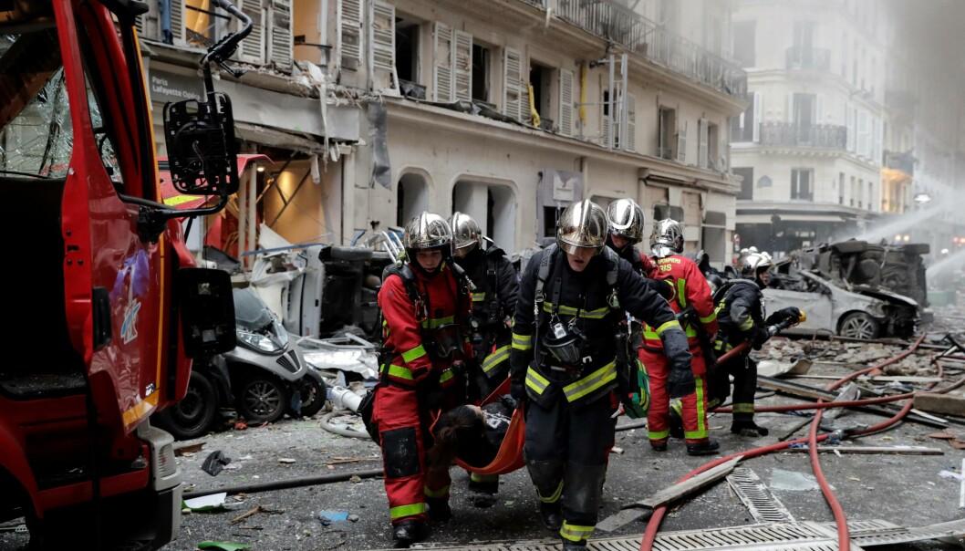 Voldsom eksplosjon i Paris