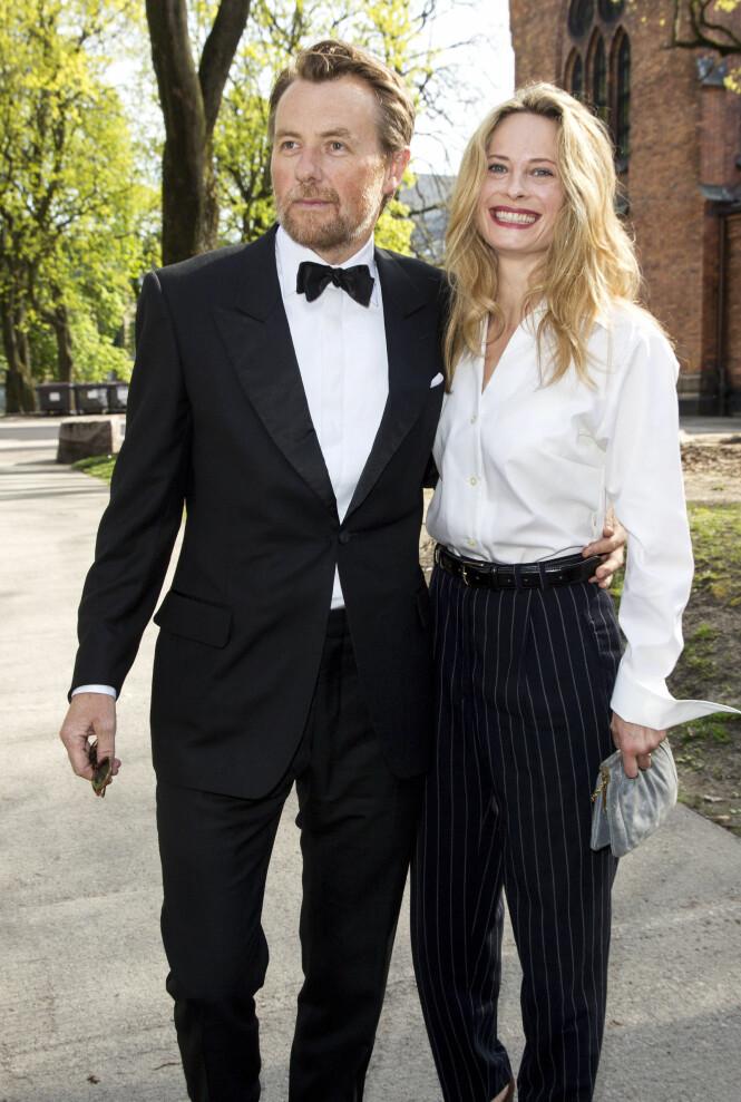 SEKSBARNSFAR: I juli kunne Fredrik Skavlan og Maria Bonnevie glede seg over å få en datter. Sammen har totalt tre barn sammen. Skavlan har også tre barn fra tidligere forhold. Foto: Andreas Fadum