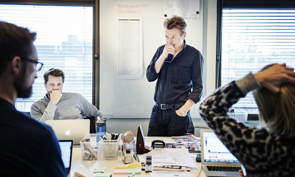TØFF START: Startskuddet på «Skavlan» på TV 2 gikk ikke helt som planlagt. Selv mener Fredrik Skavlan at han bare har godt av litt konkurranse. Foto:Benjamin A. Ward / Dagbladet