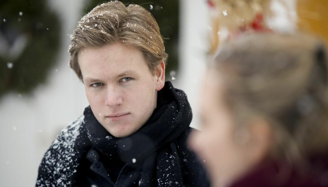 <strong>VIL HA MER SKATT:</strong> Unge Venstre-leder Sondre Hansmark går mot regjeringen hans eget parti sitter i. Foto: Vidar Ruud / NTB scanpix