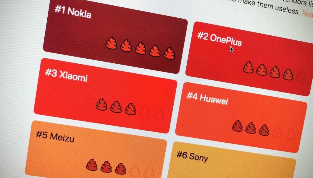 <strong>NOKIA VERST:</strong> Nettstedet Dontkillmyapp vurderer Nokia til å være verst når det gjelder å drepe apper som kjører i bakgrunnen. Foto: Pål Joakim Pollen