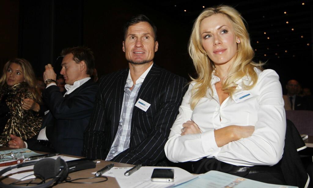 2010: Petter og Gunhild Stordalen under miljøstiftelsen Zeros konferanse på Gardermoen i 2010. Foto: NTB Scanpix
