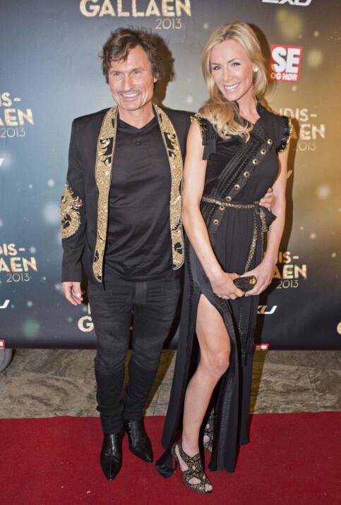 KJENDISGALLAEN: Petter og Gunhild Stordalen under Se og Hørs kjendisgalla i 2013. Foto: NTB Scanpix