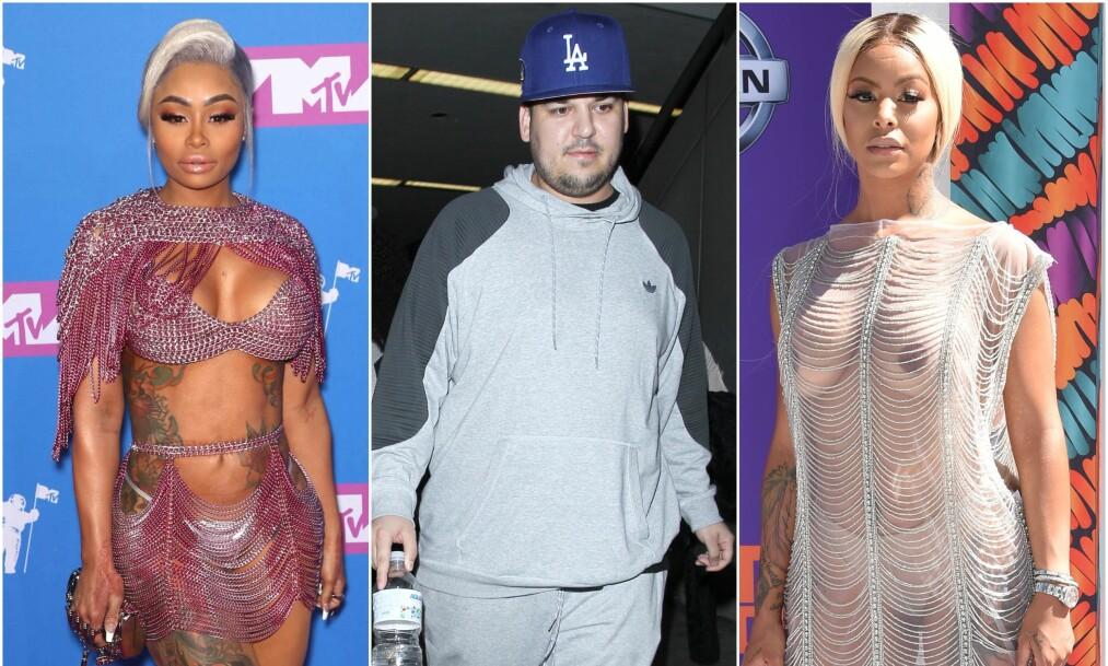 TREKANTDRAMA? Fansen spekulerer på om Rob Kardashian (31) viser seg sammen med realityprofilen Alexis Skyy (t.h.) bare for å irritere ekskjæresten Blac Chyna (30). Alexis er nemlig ikke hvem som helst. Foto: NTB Scanpix