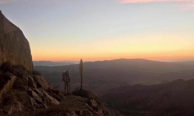 Gitte Holtze gikk 20, 30 eller 40 kilometer om dagen, og hun fikk oppleve utallige vakre soloppganger og -nedganger. FOTO: Gitte Holtze