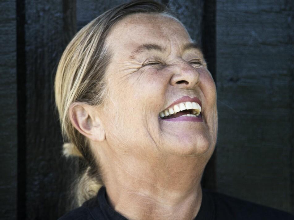 EGET KLESMERKE: Bitte Kai Rand har holdt seg i front for sitt eget klesmerke i fire årtier med god hjelp fra sin mann Michael. FOTO: Mathilde Schmidt