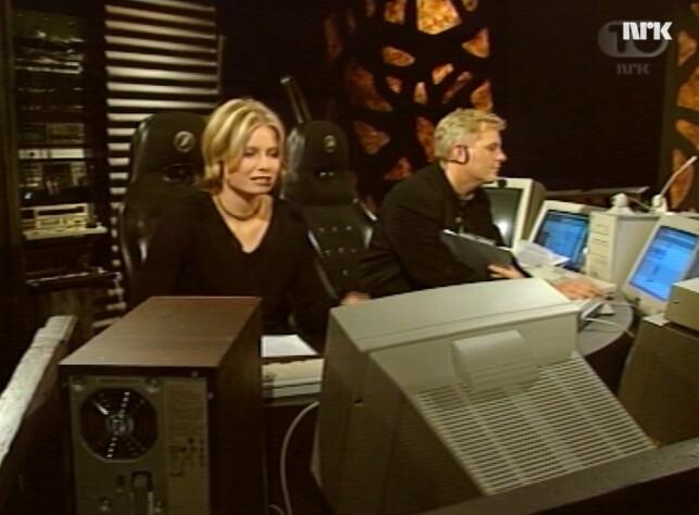 NRK-programmet Spider er et oppkomme av nydelig 90-tallsnostalgi. Og de var selvfølgelig veldig opptatt av Netscape vs. Internet Explorer, også. 📸: NRK