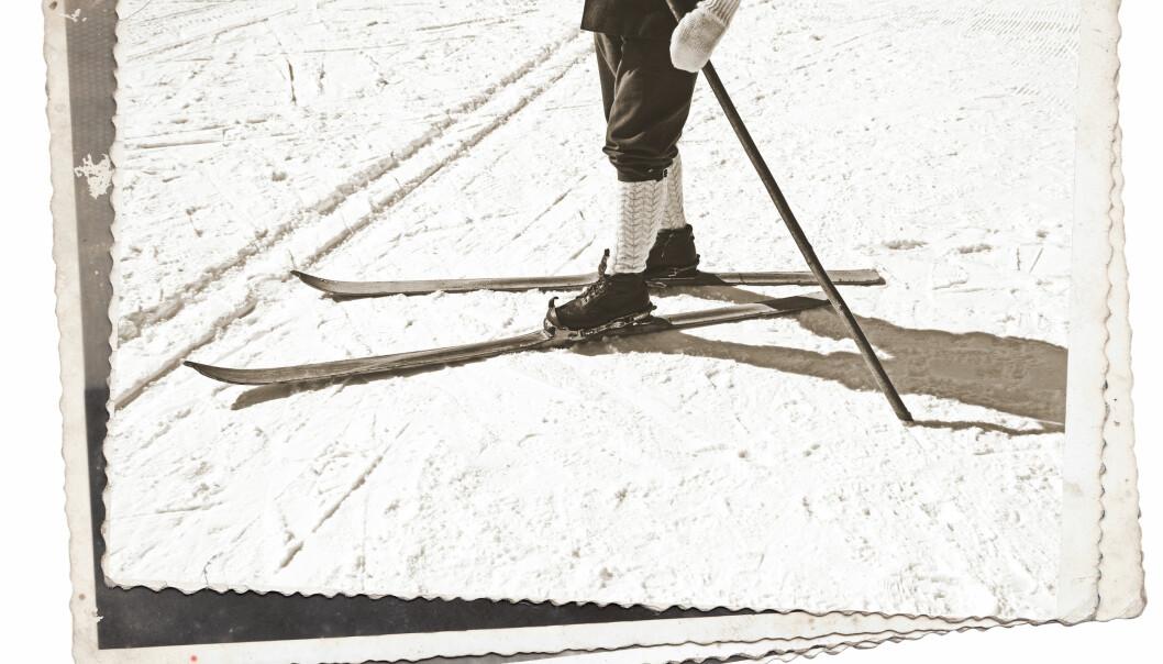 RETRO IS THE NEW BLACK: OK, så er kanskje ikke journalisten fullt så tilårskommen at svarthvitt var medieformatet, men treski var faktisk standardutrustningen for mange på 80-tallet på den årlige skidagen. FOTO: NTBScanpix.
