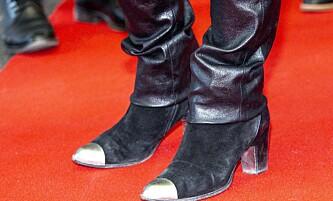 <strong>LIKER SKINN:</strong> Prinsessen hadde sort skinnbukse over semskede sko. Legg merke til den artige tuppen. Foto: Andreas Fadum