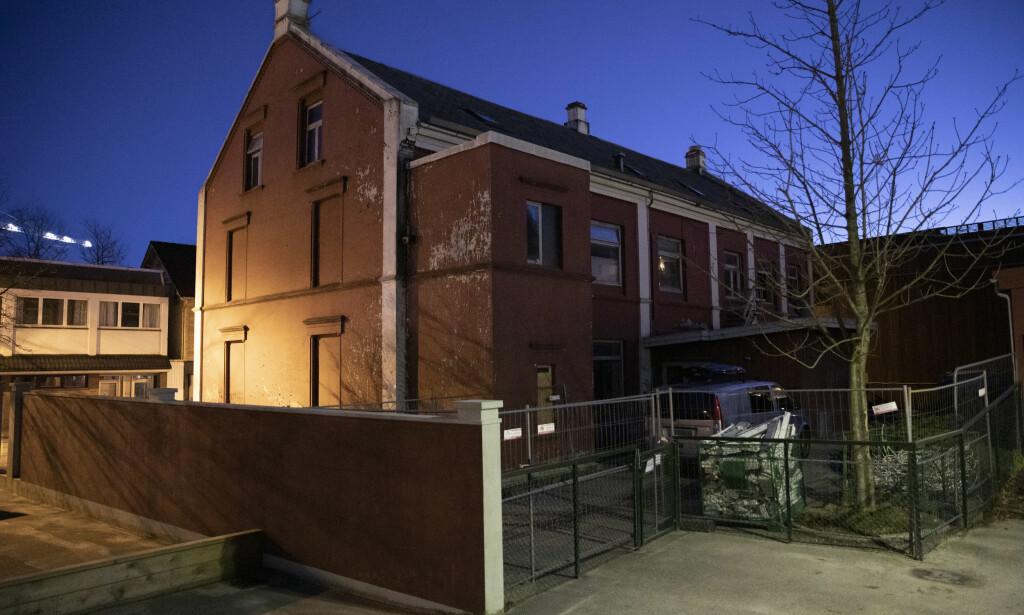 I SENTRUM: Det ubebodde bygget ligger i Langgata i Sandnes sentrum.  Foto: Tommy Ellingsen / NTB Scanpix
