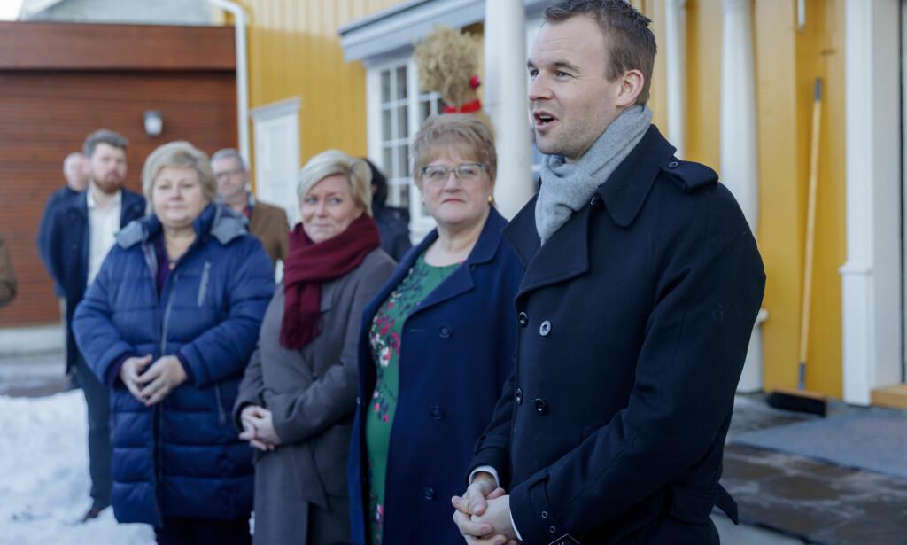 VANT ABORT-SEIER: Kjell Ingolf Ropstad (KrF) fikk i går gjennomslag for at tvillingabort ikke lenger skal være selvbestemt. Foto: Cornelius Poppe / NTB scanpix