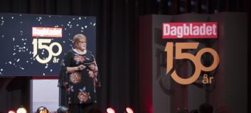 Dagbladet (150) hyllet av kulturministeren