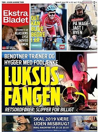 OPPSLAG I SØNDAGSAVISA: Ekstra Bladet beskriver Nicklas Bendtner som en luksusfange.