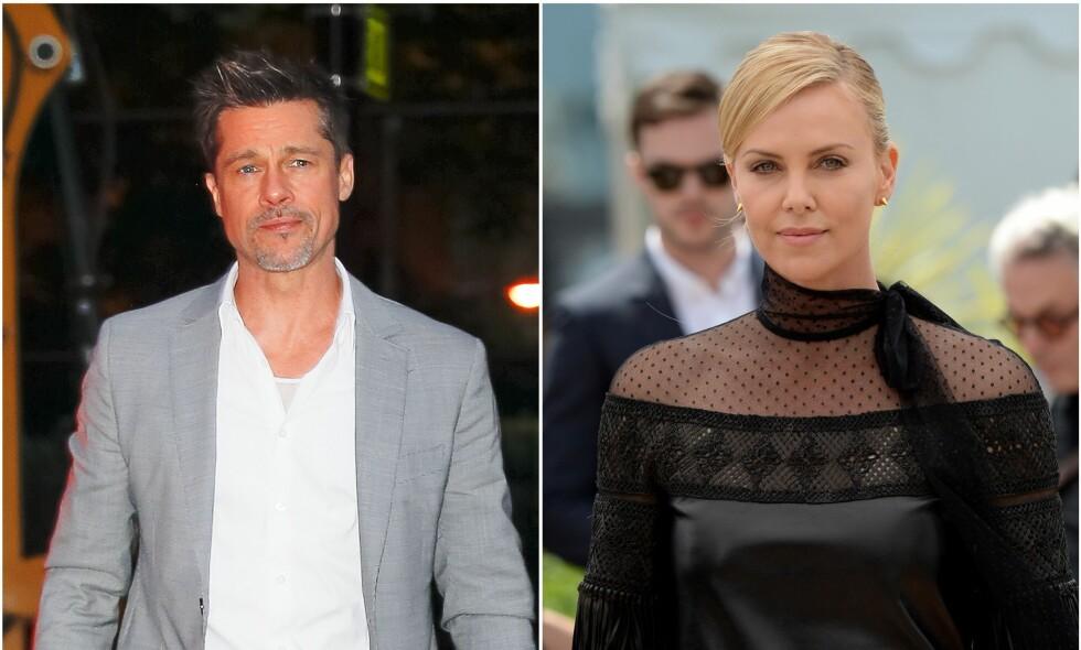 DATER IGJEN: Brad Pitt og Charlize Theron skal ifølge kilder ha blitt et par. Foto: NTB Scanpix