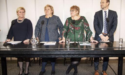 image: Kabalen gikk opp: Erna Solbergs nye regjering er trolig klar