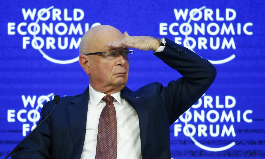 GRUNNLEGGER: WEF-grunnlegger Klaus Schwab sier det er på tide å se etter alle som har endt opp som «tapere» som følge av globaliseringen. Foto: Ruben Sprich / Reuters / NTB Scanpix
