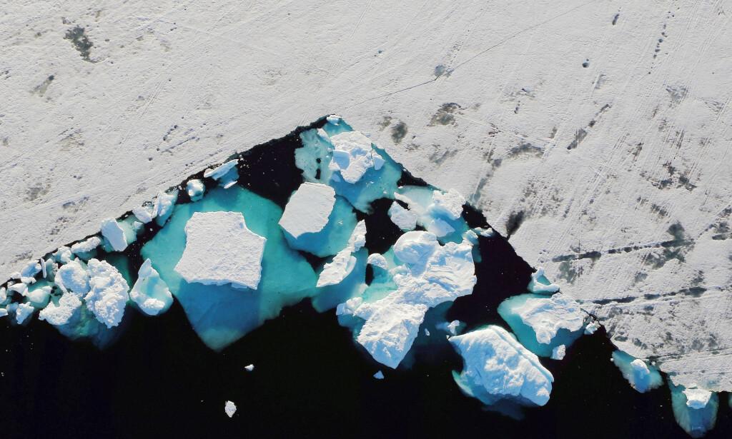 - PÅ ET KRITISK PUNKT: Ifølge en rapport publisert mandag, er issmeltingen på Grønland ved et kritisk punkt. Foto: Reuters/Lucas Jackson