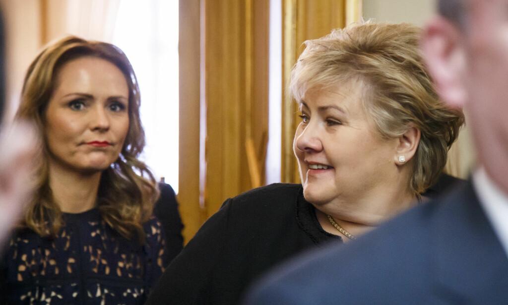 VRAKES: Linda Hofstad Helleland forsvinner fra Erna Solbergs nye regjering som presenteres i dag. Foto: NTB Scanpix