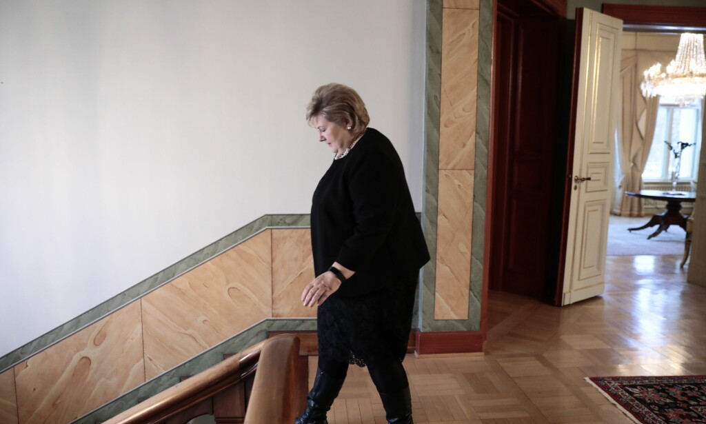 - FORNØYD: Statsminister Erna Solberg var fornøyd da hun presenterte de nye statsrådene tirsdag. Foto: Nina Hansen / Dagbladet