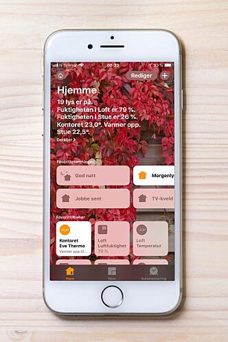 <strong>APP:</strong> Alt som har med HomeKit å gjøre håndteres i Hjem-appen, som som ble introdusert med iOS 10 i 2016.
