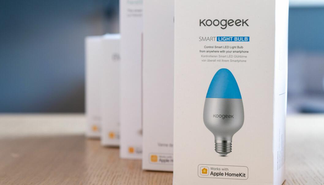 <strong>LOGO:</strong> Se etter HomeKit-logoen når du er på jakt etter tilbehør, men sjekk om tilbehøret også støtter andre systemer. Foto: Tron Høgvold