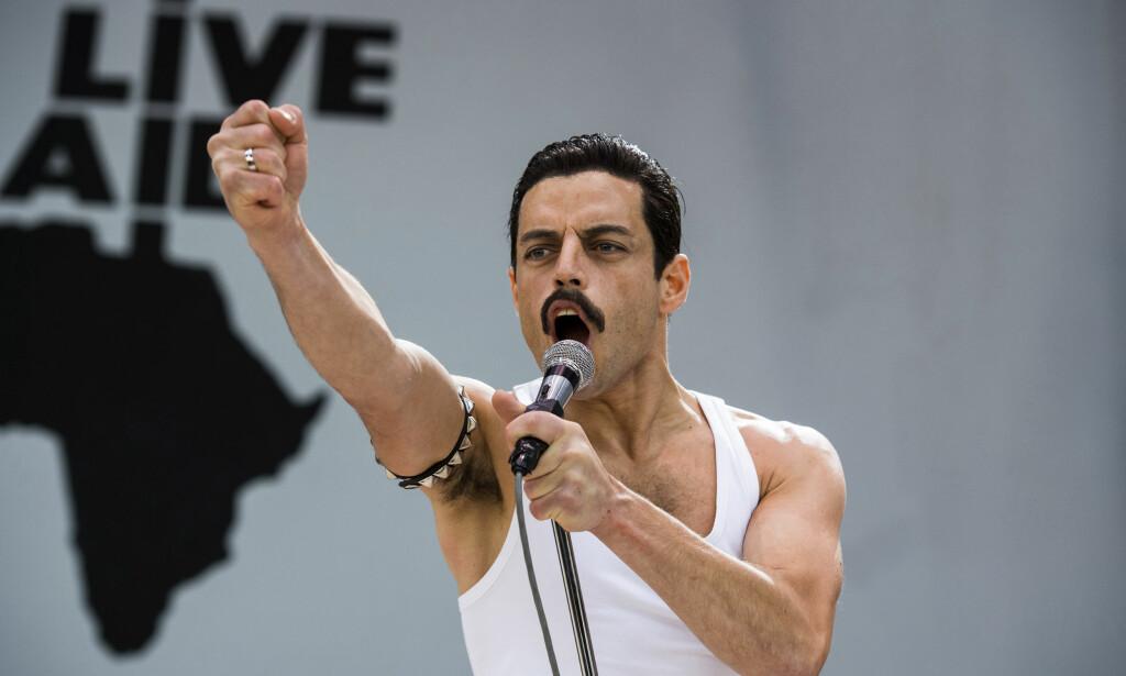 NOMINERT: Skuespiller Rami Malek er nominert for sin rolle som Freddie Mercury i «Bohemian Rhapsody», som er nominert til beste film. Foto: NTB scanpix