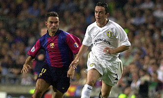 ANDRE TIDER: I 2000 spilte Leeds Champions League, her mot Barcelona. Foto: AP Photo/Lluis Gene/EFE.