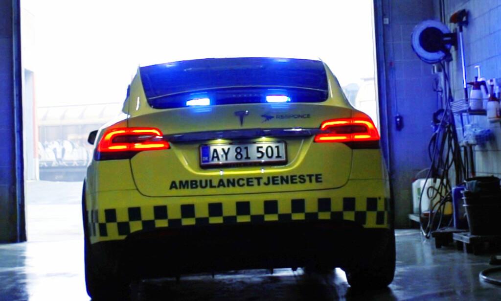 KLARE FOR EL: Oslo Universitetssykehus(OUS) er vil gjerne ha el-ambulanser inn i stallen. Foto: Falck